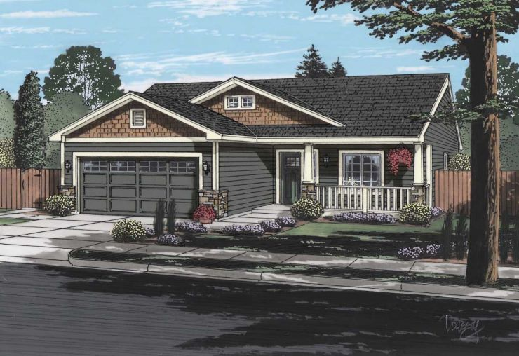 BigSky Rancher Home Plans Spokane Wa